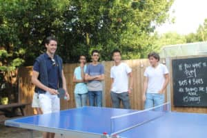 The ping pong tournament gets heated