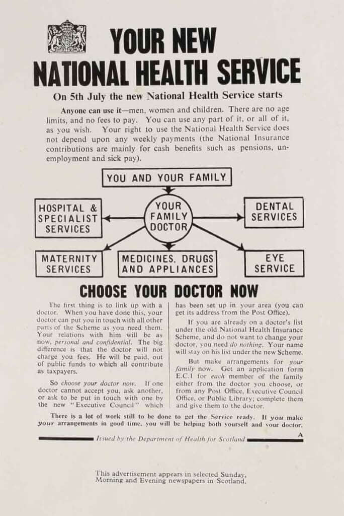 National Health Service leaflet, May 1948