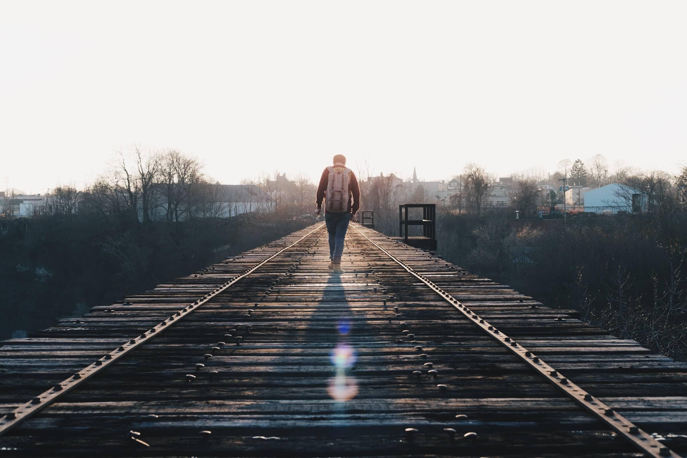 on railway track
